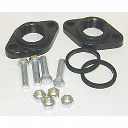 Flange Adapter, 1-1/4 In NPT, CI, Pk 2