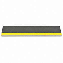 Stair Tread, Blk w/ Safety Ylw Front, Alum