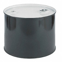 Drum, Closed Head, 5 Gal, Black w/White Top