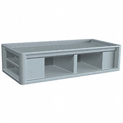 Endurance Bunk, 80x30x21 In, Slate Blue