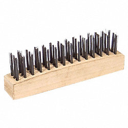Wire Brush, 3 Rows, Steel