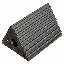 Wheel Chock, Rubber, W 6-1/2 In, H 4-1/2 In