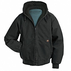 Hooded Jacket, No Insulation, Black, 3XL