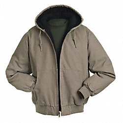 Hooded Jacket, No Insulation, Gravel, XL