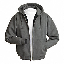 Hooded Swtshrt, Gray, 80% Cotton/20% PET, S