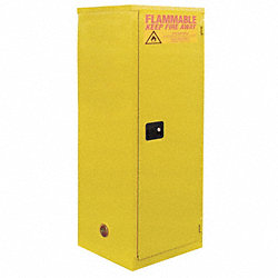 Flammable Safety Cabinet, 18 Gal., Yellow