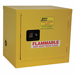 Flammable Safety Cabinet, 6 Gal., Yellow