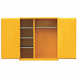 Flammable Safety Cabinet, 55 Gal., Yellow
