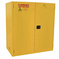 Flammable Safety Cabinet, 44 Gal., Yellow