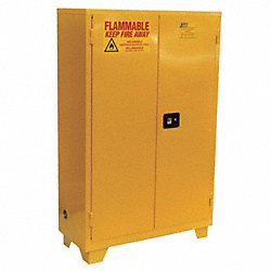 Flammable Safety Cabinet, 28 Gal., Yellow