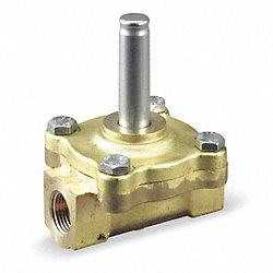 Solenoid Valve Less Coil, 1/2 In, NC, Brass