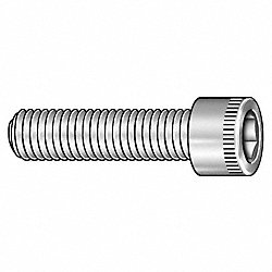 Skt Cap Screw, Std, #10-24x1, Pk 100