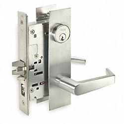 Mortise Lockset, Office/Entrance, Chrome