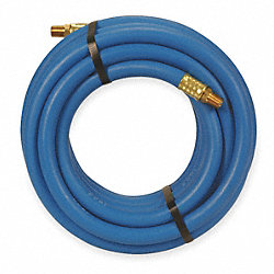 Air Hose, 3/8 IDx0.67 ODx50Ft, 1/4 NPT, PVC