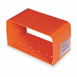 Foot Switch Guard, Steel, Alert Orange