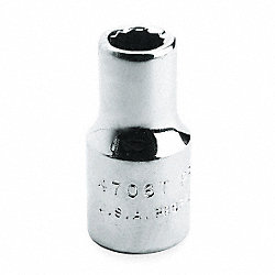 Socket, 1/2 Dr, 20mm, 12 Pt, Chrome