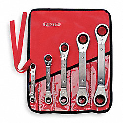 Reversible Wrench Set, SAE, 6 pt., 5 PC