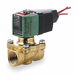 Solenoid Valve, 2 Way, NC, Brass, 1 In