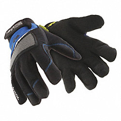Cut Resistant Gloves, Blue/Black, XL, PR