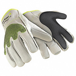 Cut Resistant Gloves, White, L, PR