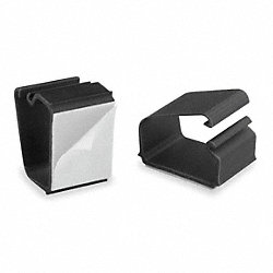 Wire Clips, Wall/Desk, 7/8in H, Blk, PK6