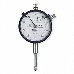 Dial Indicator, 0.01mm Grad, 0-20mm, White