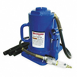 Bottle Jack, Air/Manual, 30 Tons