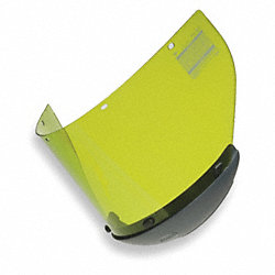 Arc Flash Faceshield, Propionate, Lt Green