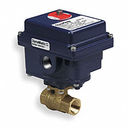 Ball Valve, Electric, 3/4 In NPT, Brass