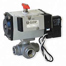 Ball Valve, 1 In NPT, Spring Return, SS