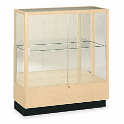 Counter Display Case, Honey Maple