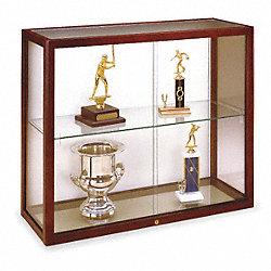 Wall Mounted Display Case, Cordovan