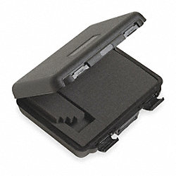 Hard Carrying Case, 4 In. H, 12 In D, Black