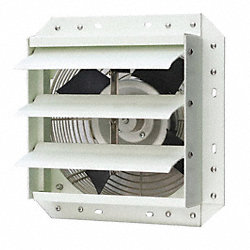 Exhaust Fan, 20 In, 115 V, 3642 CFM
