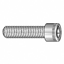 Socket Cap Screw, 3/8-16 x1 1/4 In, Pk 100