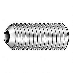 Socket Set Screw, Cup, 3/8-16x1/2, PK 100