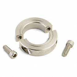 Shaft Collar, Two Piece Clamp, ID 1.250 In