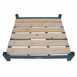 Stack Rack Base, Wood, 42x48 in., 2000 lb.