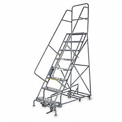 Rolling Ladder, Hndrl, Pltfm 150 In H