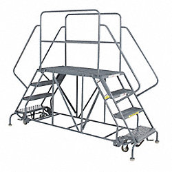 Work Platform, Dual Access, Steel, 40 In H