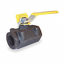 Ball Valve, 2 PC, 3/4 In NPT, Carbon Steel