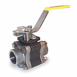 Ball Valve, 3 PC, 3/4 In Socket Weld