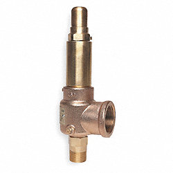 Pop Safety Valve, 1 x 1 1/4 In, 150 PSI