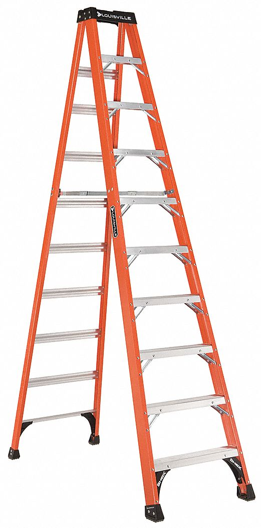 LOUISVILLE Stepladder, Fiberglass, 10 ft H, 375 lb Cap by Louisville FS1410HD at Sears.com
