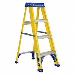 Stepladder, Fiberglass, 4 ft. H, 250 lb Cap