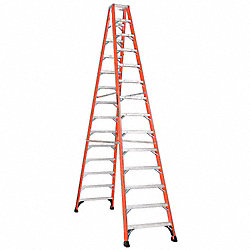 Dbl Sided Stplddr, FG, 14 ft. H, 375 lb Cap
