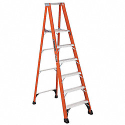 Platform Stepladder, 16 In. W, 8 ft. H