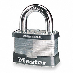 Non-Rekeyable Padlock, H 1 1/4 In, KD