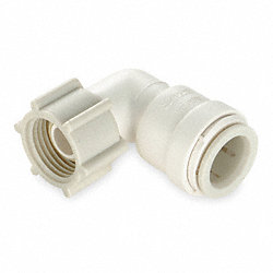 Female Swivel Elbow, 90 Deg, 1/2 In
