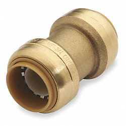 Coupling, 3/4 In Tube Size, DZR Brass